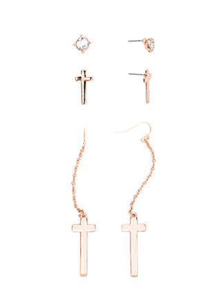 Keep The Faith Jeweled Earring Set