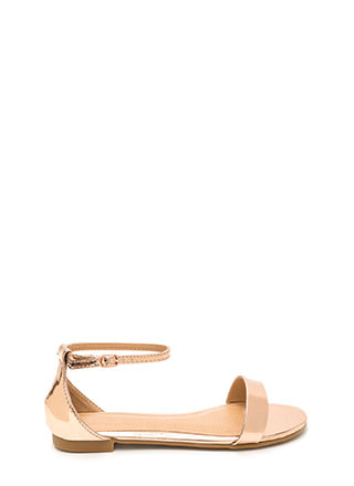 Strappy Feeling Metallic Sandals