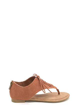 Desert Nomad Lace-Up Faux Suede Sandals
