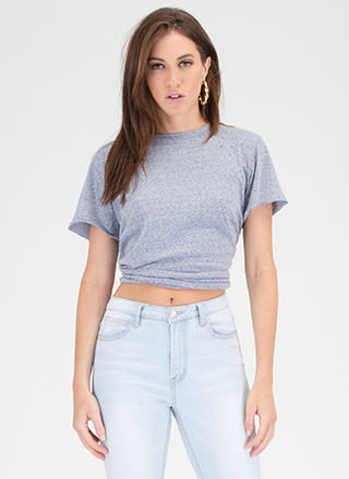 Carefree Day Slit Distressed Tee