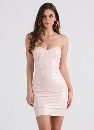 Sleek Your Mind Sweetheart Tube Dress