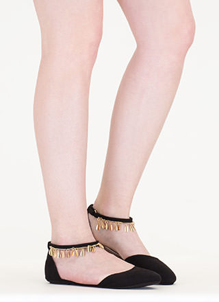 Good Gleam Faux Suede Flats