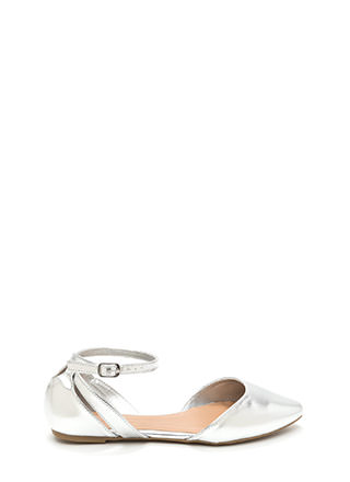 Point Taken Metallic D'Orsay Flats