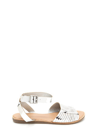Vacay Chic Slit Metallic Sandals