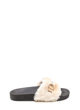Just Fur You Glam Slide Sandals