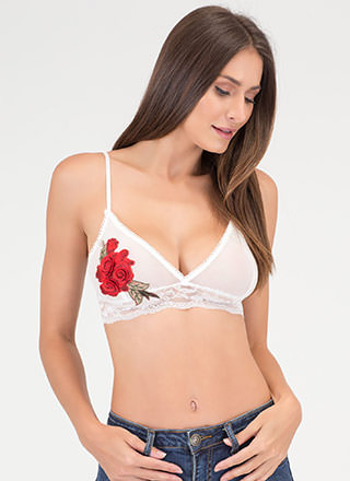 Grow Along Sheer Floral Bralette
