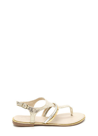 Radiant Allure Caged Snakeskin Sandals