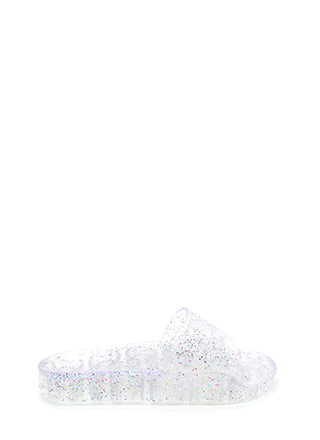Twinkle Toes Glitzy Jelly Slide Sandals