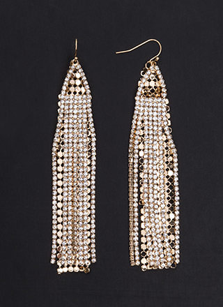 Special Sparkle Layered Fringe Earrings