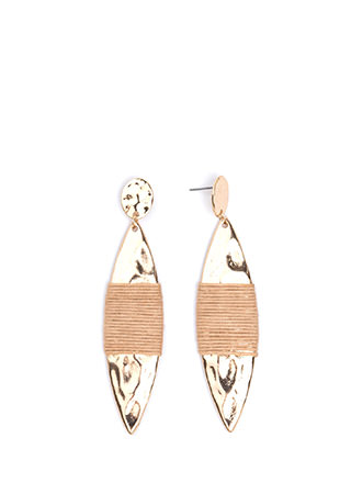 Pull Strings Hammered Earrings