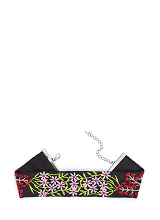 In My Nature Wide Embroidered Choker