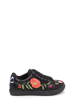 Sew Cute Applique Flower Sneakers