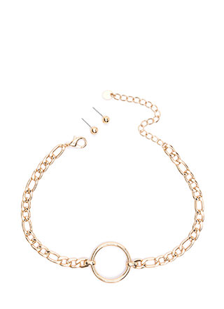 Ring It Chain Choker Set