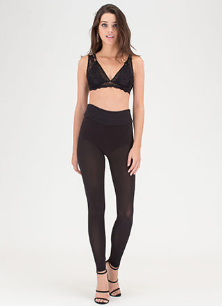 Sheer 'N There Mesh Leggings
