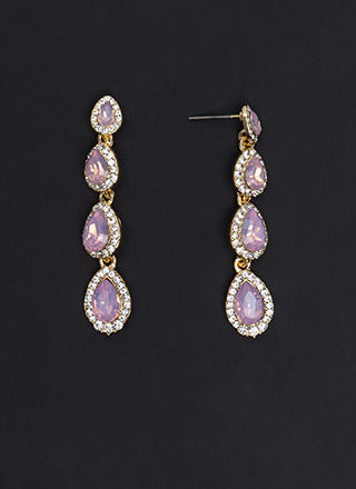 Royal Treasure Faux Jewel Drop Earrings