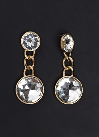 Seeing Double Faux Jewel Earrings