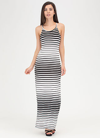 Learn Your Lines Striped Maxi Dress