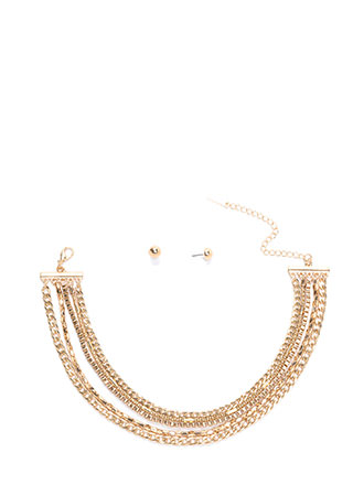 Chain Of Command Layered Choker Set