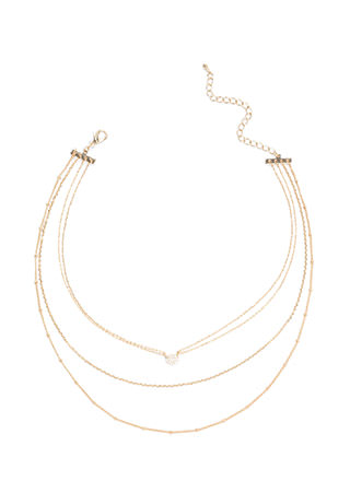 Gleam Party Layered Chain Necklace