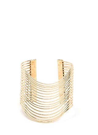 Wave Rider Caged Cuff Bracelet