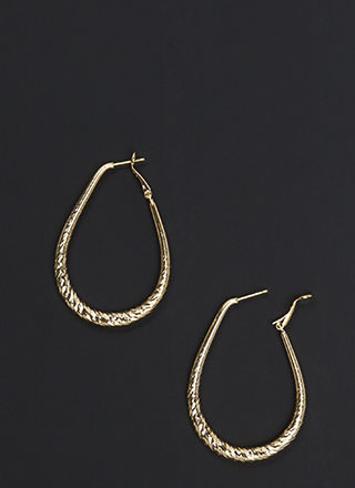 Twist To It Textured Hoop Earrings