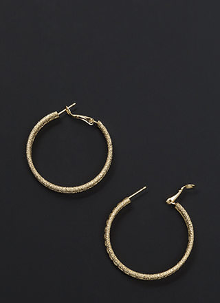 Glitzy Baubles Twisted Hoop Earrings