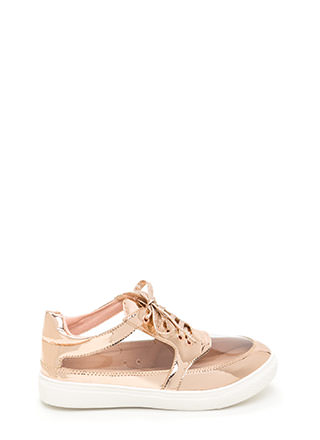 Near 'N Clear Metallic Sneakers