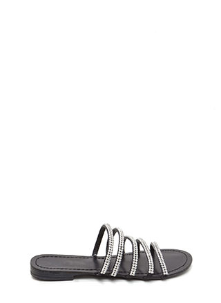 Luxe Good Faux Leather Slide Sandals