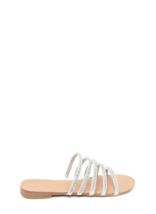 Luxe Good Metallic Slide Sandals