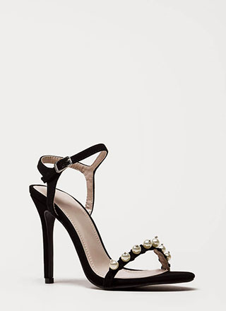 Diving For Pearls Faux Nubuck Heels