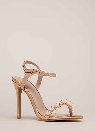Diving For Pearls Metallic Heels
