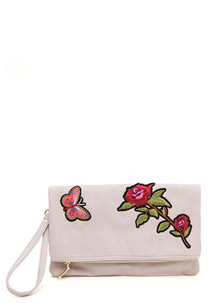 Botanical Gardens Foldover Patch Bag