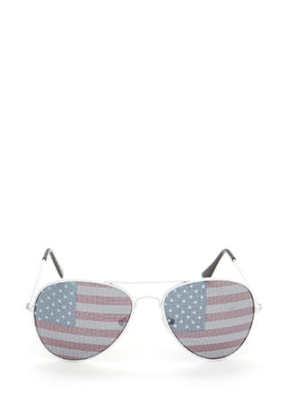 American Flag Day Aviator Sunglasses