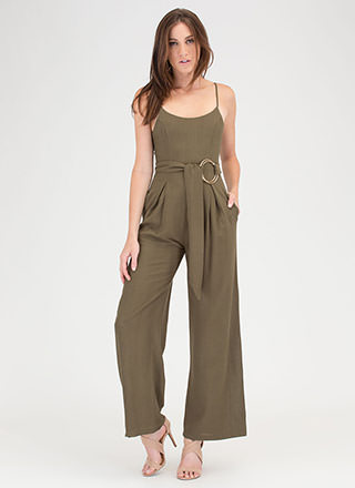Do Your Thing Pleated Palazzo Jumpsuit