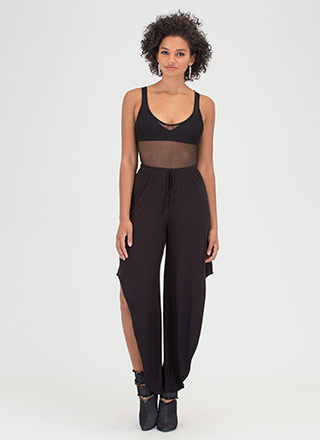 Fancy Flow Cut-Out High-Low Pants