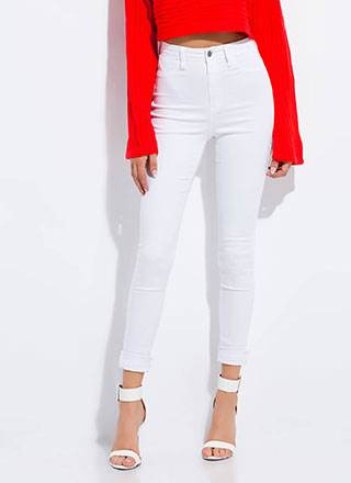 Go Easy High-Waisted Skinny Jeans