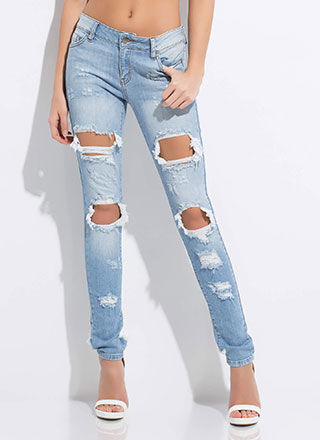 Rip It Good Washed Skinny Jeans