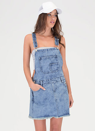 Denim Doll Pinstriped Skirtalls