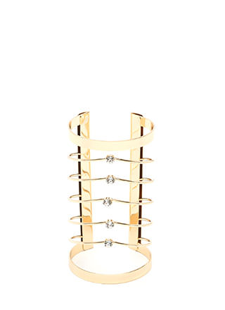 Glam Bae Jeweled Caged Cuff