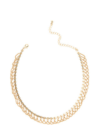 Chain-ge In Attitude Draped Chain Choker