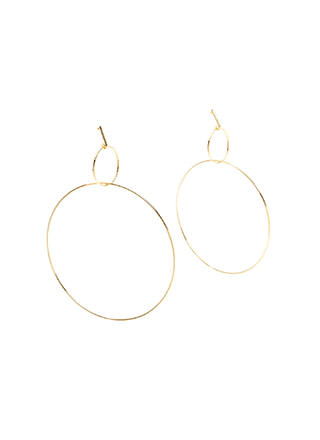 Forever Linked Double Hoop Earrings