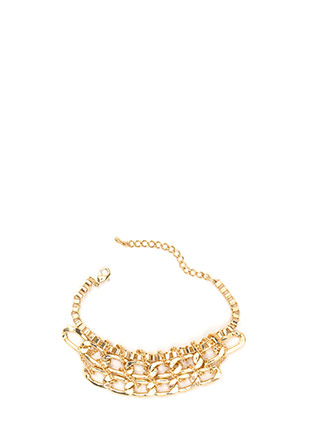 Chain Chain Chain Wrapped Bracelet