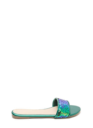Style Icon Sequin Slide Sandals