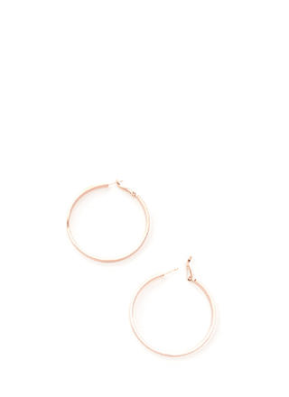 In Nothing Flat Band Hoop Earrings