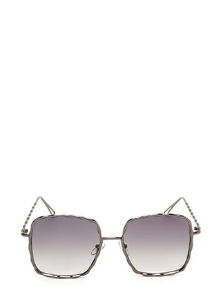 Squared Away Textured Sunglasses