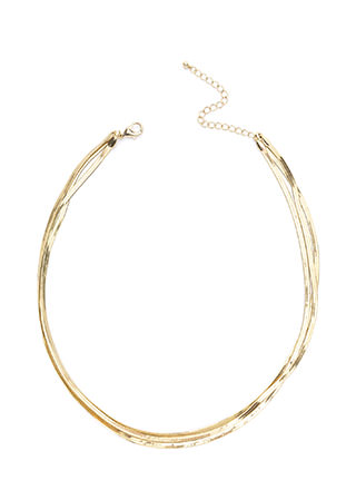 Chic Triple Layered Chain Necklace