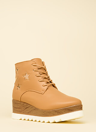 Seeing Stars Platform Wedge Booties