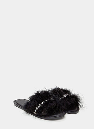 Light As A Feather Glitzy Slide Sandals