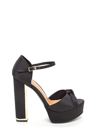 Knot To Worry Chunky Platform Heels