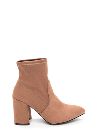 Everyday Chic Pointy Chunky Booties